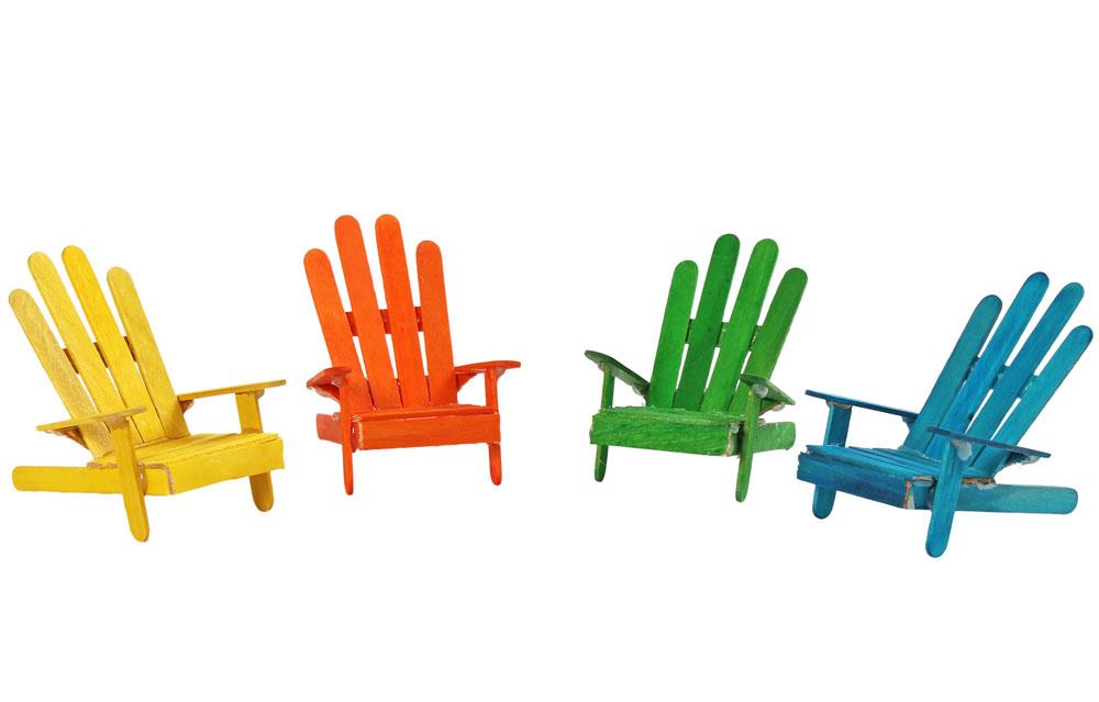 Glasspinnar färgade, fp 1000 st
