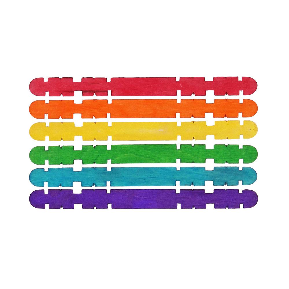Glasspinnar slitsade färgade, fp 1000 st