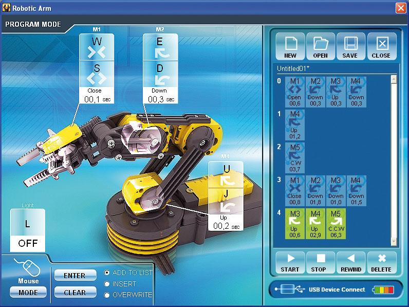 USB-interface till Industrirobot