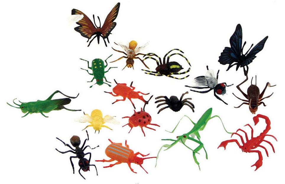 Små insekter i plast, fp 18 st