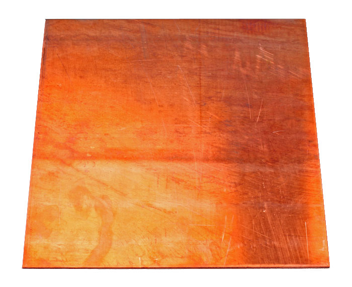 Kopparplatta, 25x25x0,4 cm