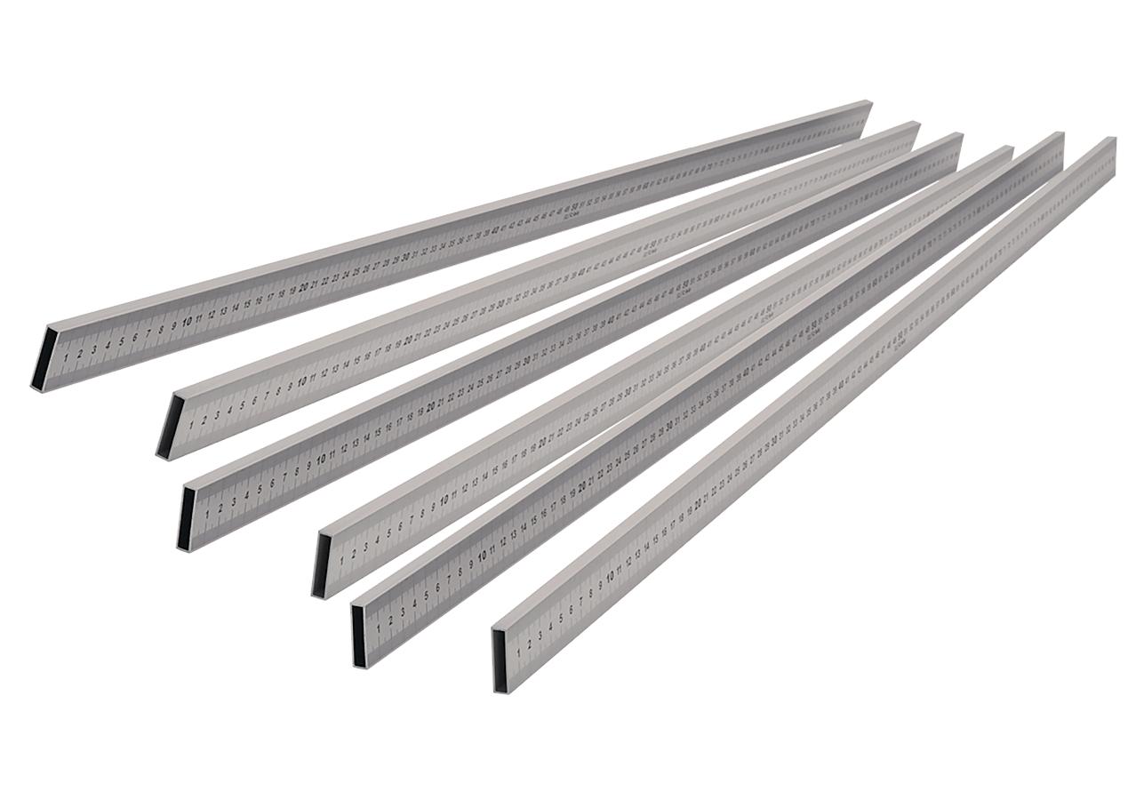 Meterlinjal aluminium fp 6 st