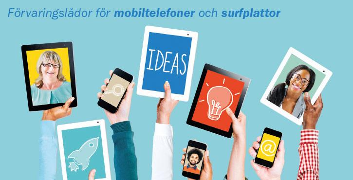 Mobildagis mobilhotell mobiltelefonförvaring iPadförvaring surfplattor