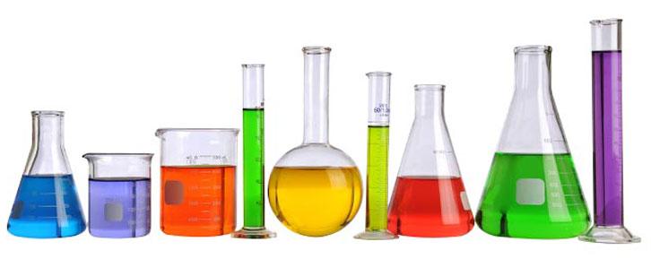 glas labutrustning bägare laboratorie