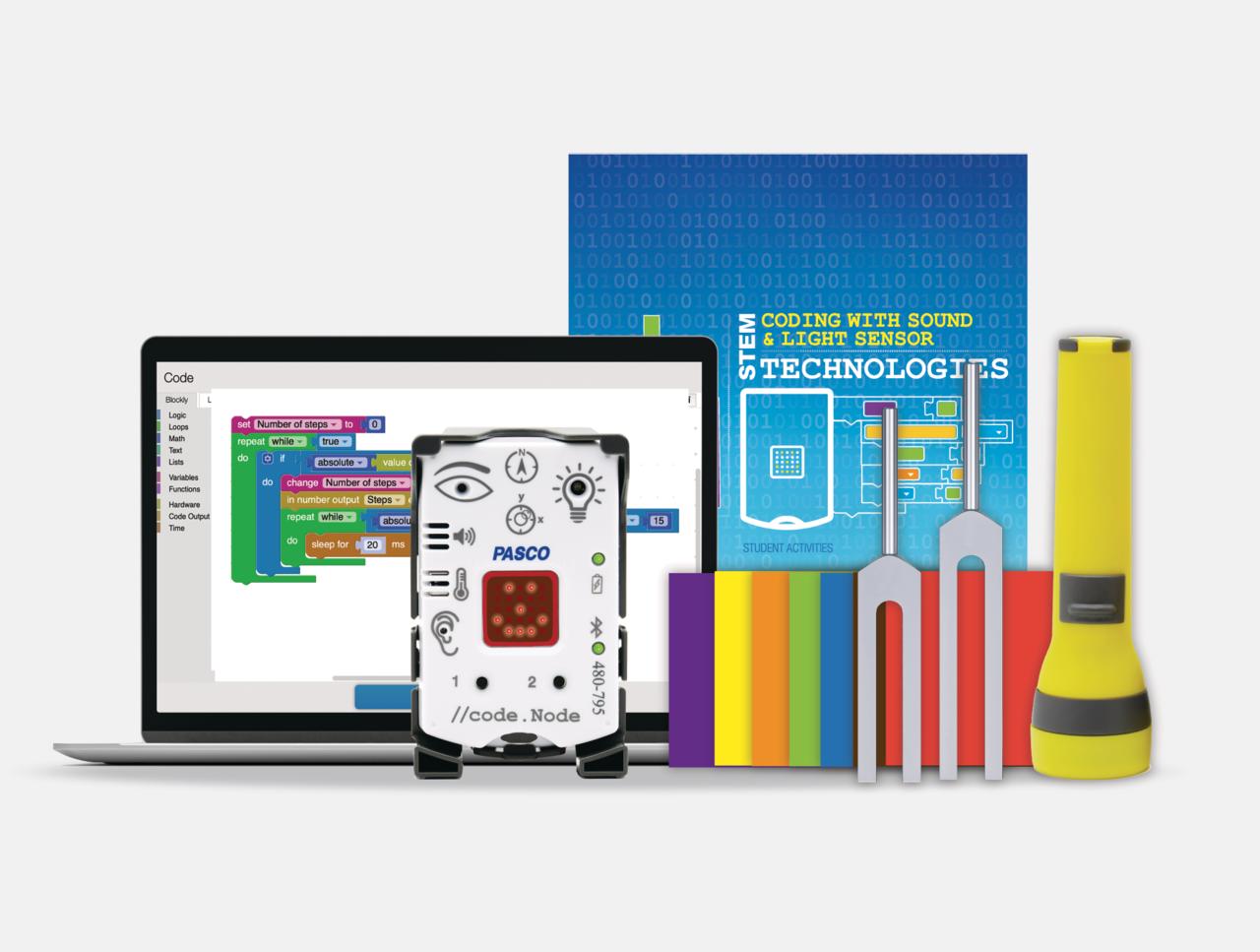 Coding with Sound & Light Sensor Technologies Kit