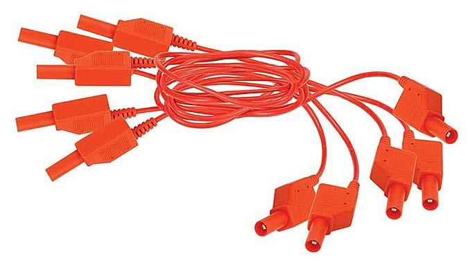 Shrouded Red Patch Cord